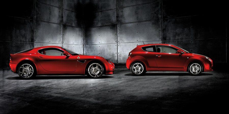 Alfa Romeo Mito and Alfa Romeo 8C Competizione