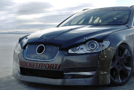 The Jaguar XFR which hit 225mph at Bonneville