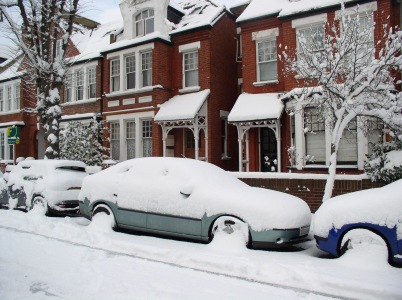 Keith's snow-covered car