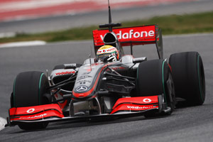 Lewis Hamilton is defending his 2008 title with McLaren