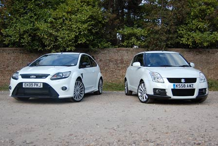 Ford Focus RS and Suzuki Swift Sport