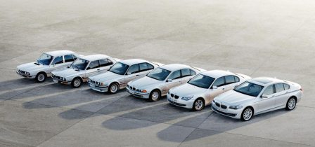 Six generations of the BMW 5 Series